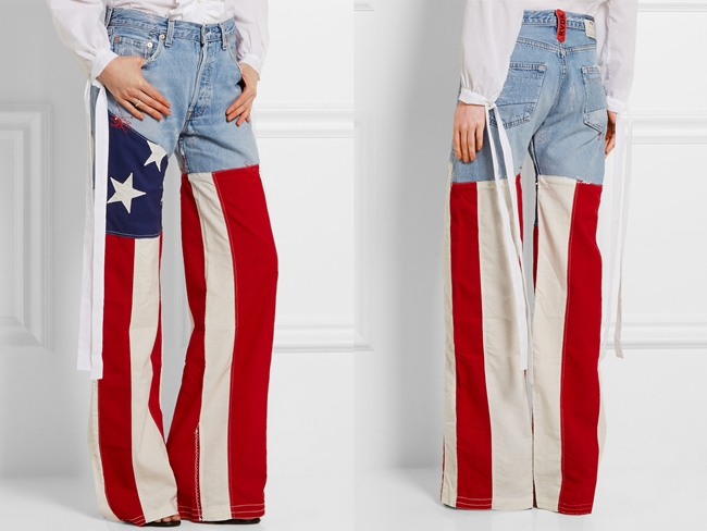 慶祝美國國慶日之美國旗牛仔褲