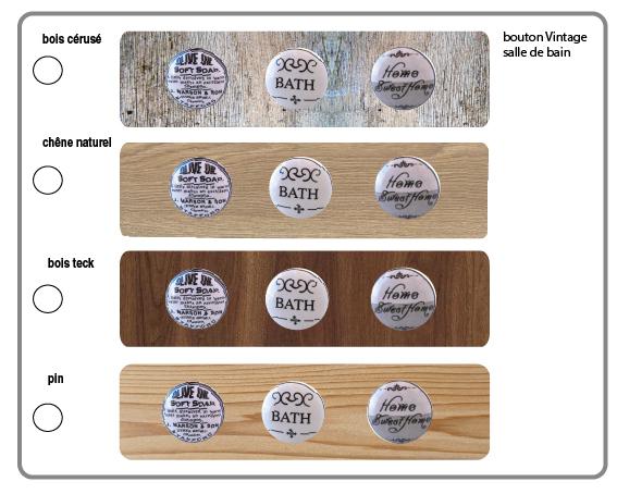 bouton en porcelaine salle de bain