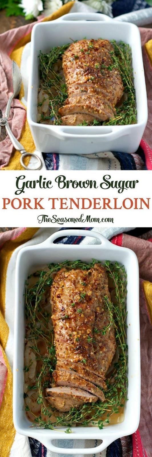 Garlic Brown Sugar Pork Tenderloin