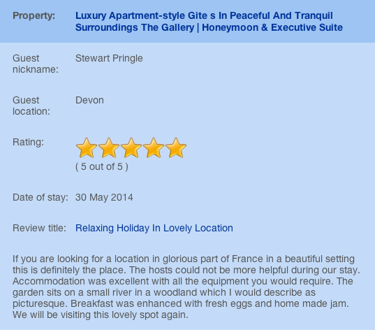 Self Catering Gites For Two People REVIEWS