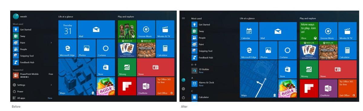 Windows 10: modifiche alla UI scelte dagli Insiders desktop
