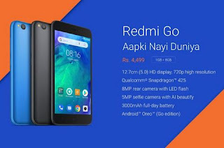 Xiaomi launches the budget smartphone Redmi Go at Rs 4499, learn specification