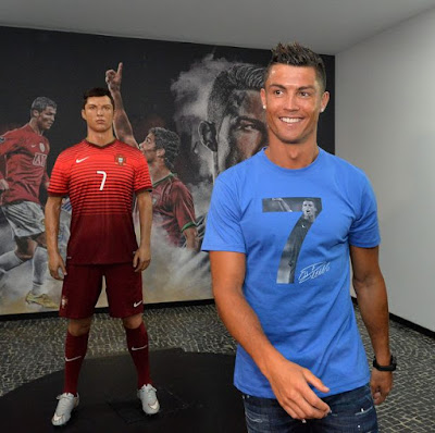 Cristiano Ronaldo All Smiles As He Visits His Own Museum In Portugal. Photos