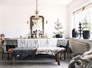 Новогодний интерьер дома в скандинавском стиле