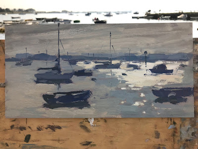 #255 'Morning Light, Emsworth Harbour' 5×10″