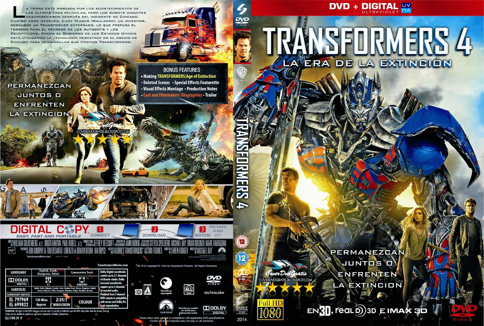 The gallery for --> Transformers Age Of Extinction Dvd Cover