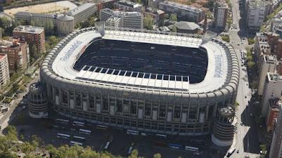 Estadio Santiago Bernabéu en Madrid.