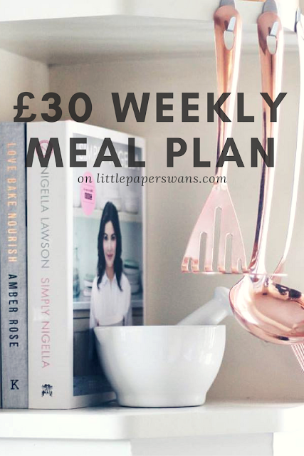 Under £30 Weekly Meal Plan Budget Friendly