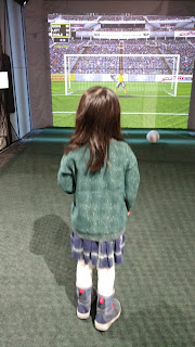 Playing soccer at Bounce Gallery, Canada's Sports Hall of Fame