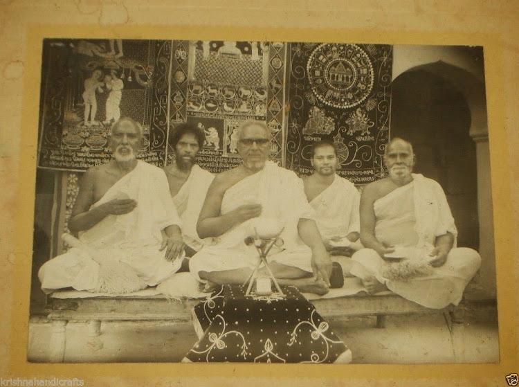Vintage Photograph of Indian Jain Sadhu