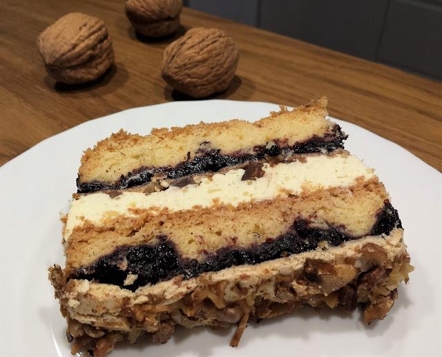 przepis na pyszne ciasto z dżemem porzeczkowym