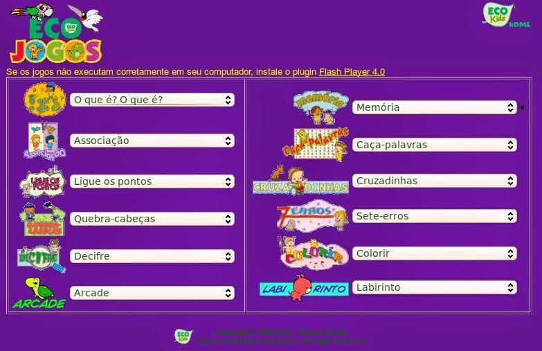 http://www2.uol.com.br/ecokids/jogos.htm