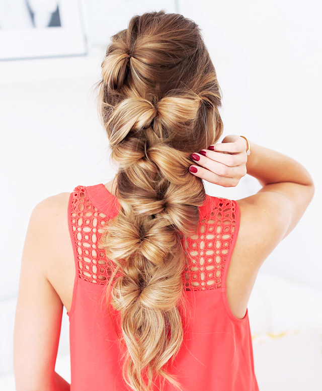 Ten easy and gorgeous hair braid tutorials.  How to create a bow braid.