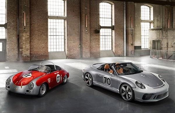 Porsche 356 Roadster y Porsche 911 Speedster Concept