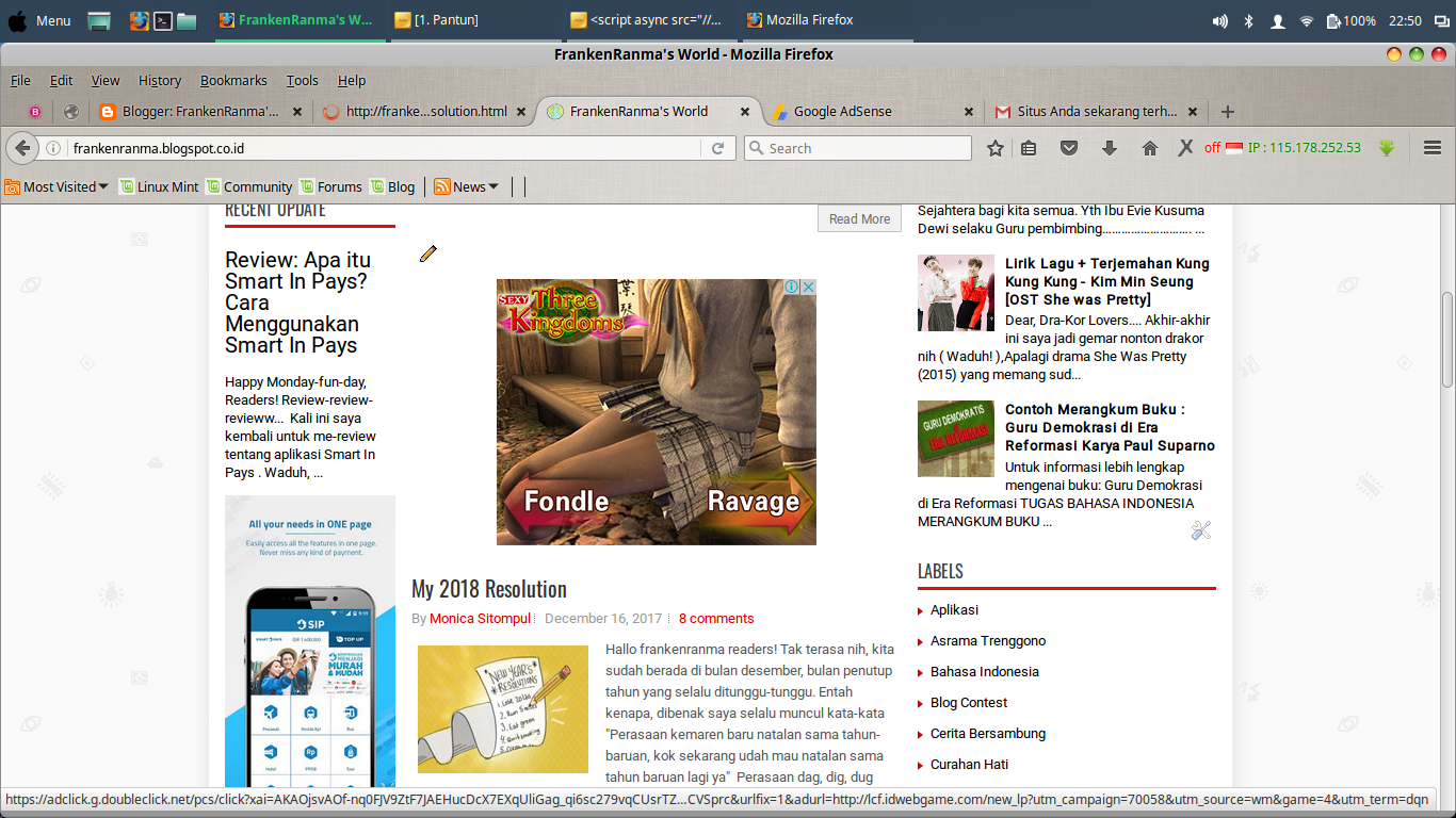 Akun Google Adsense di Acc Rsjournal