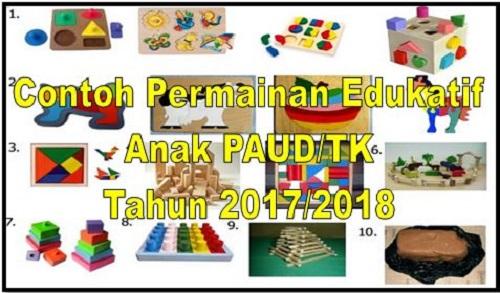 Contoh Permainan Edukatif Anak Paud Tk Tahun 2017 2018 File