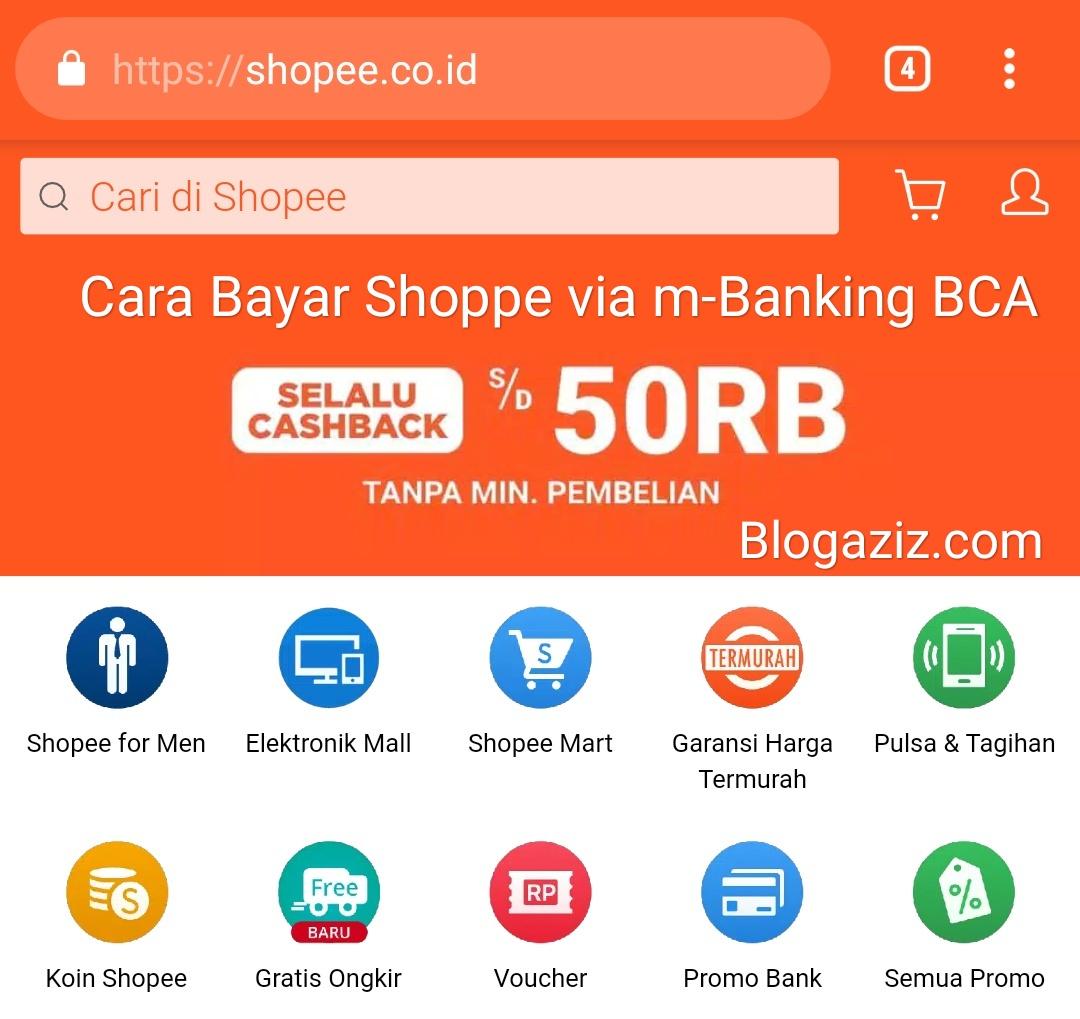 Cara Bayar Shopee via m-Banking BCA