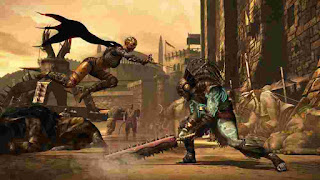 Fight between two fighters mortal kombat x