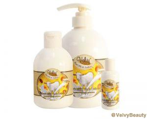 Rahasia kulit putih halus dan sehat dengan Velvy Goat's Milk Shower Cream Royal Jelly dan Sun Flower