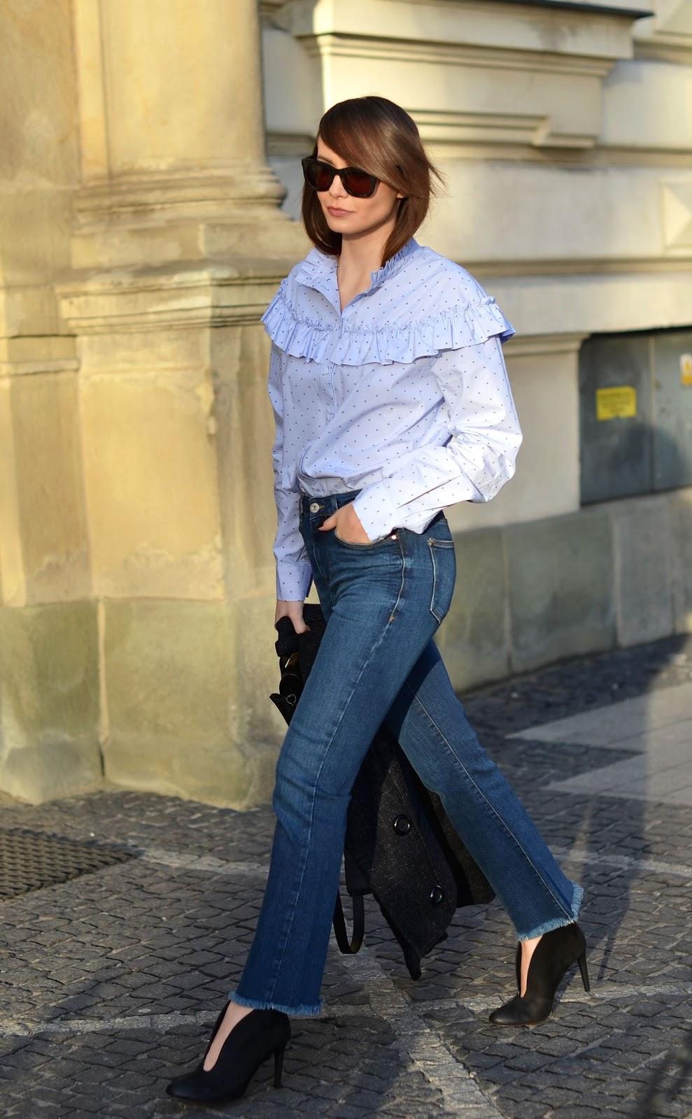 spodnie jeansowe z wyzszym stanem