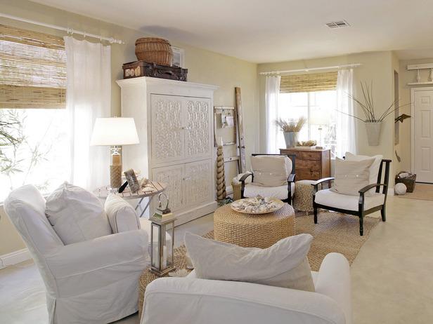 The room stylist hgtv 39 s beach inspired spaces - Beach house living room ...