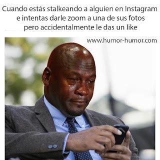 meme jordan stalkeando instagram humor