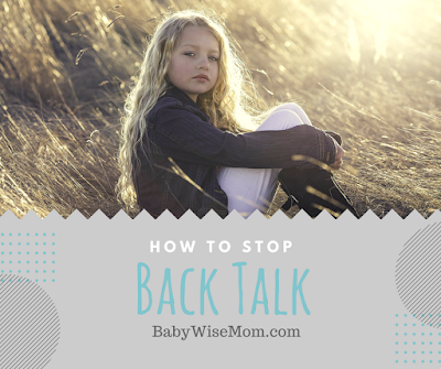 How To Stop Back Talk