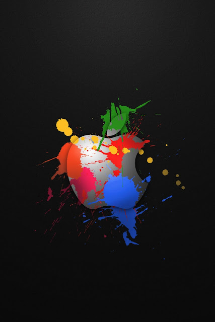 Apple In Colours iPhone Wallpaper By TipTechNews.com