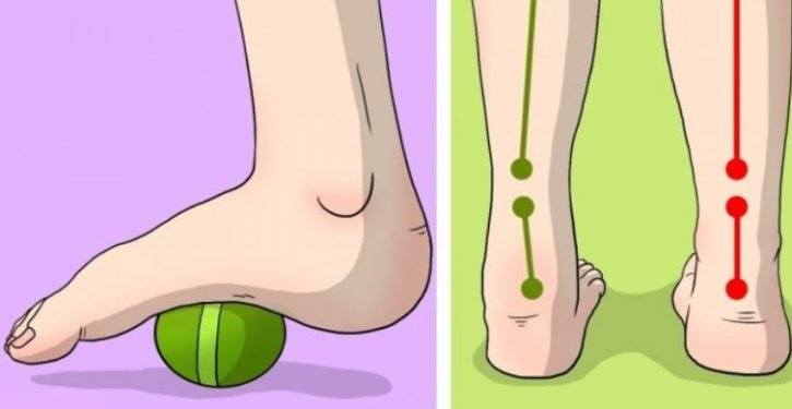 6 Exercises Easily Relieve Your Pain In The Feet, Hip And Knees.