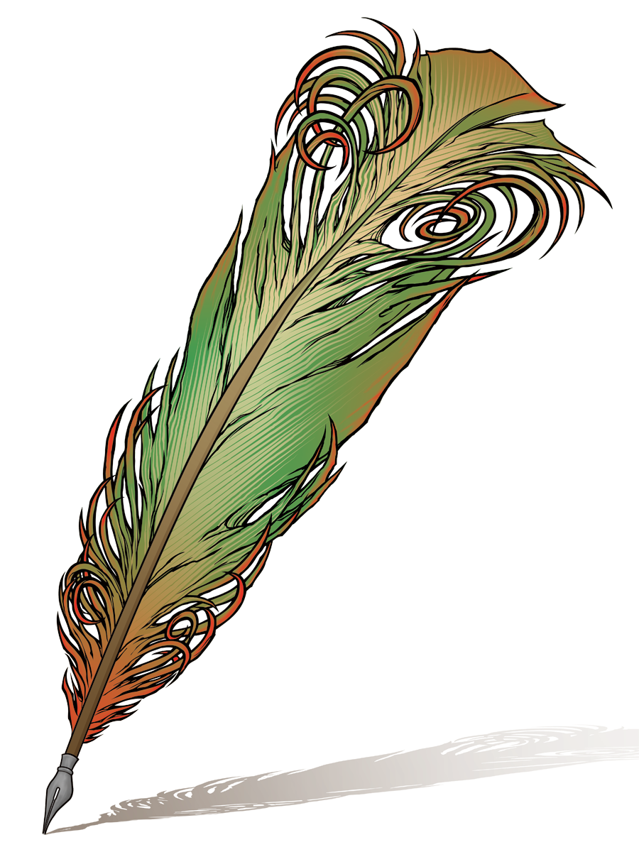 A Wolf Illustrations Blog: Feather Quill Pen