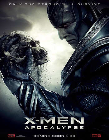 Poster Of X-Men Apocalypse 2016 Hindi Dubbed 700MB HDCAM x264 Free Download Watch Online Worldfree4u