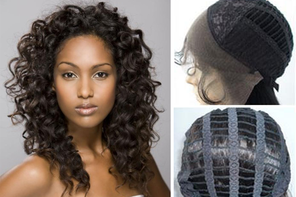 Curly 18 Inches 120% Lace Front Cap Human Hair