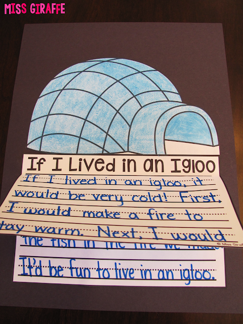 If I Lived in an Igloo writing craft and other super fun winter writing activities