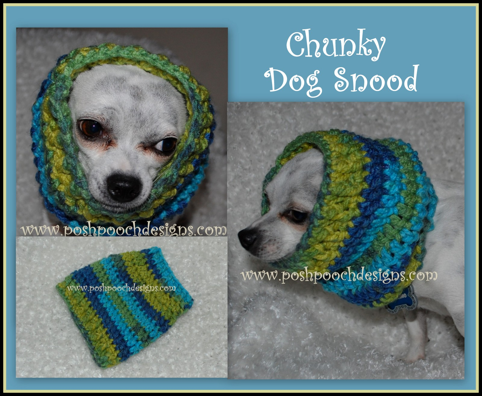 Knitting Pattern Dog Snood : Posh Pooch Designs Dog Clothes: Dog Snood Crochet Pattern - For All Size Dogs
