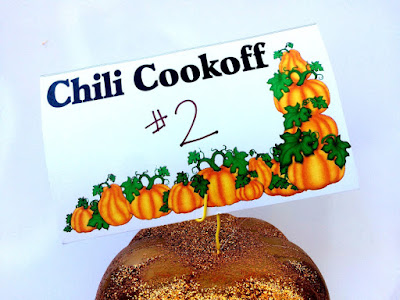 Make your Fall Festival just a little bit easier by letting the guests bring the food.  With a chili cook off, they can eat, vote, and everyone wins with these Chili Cook off printable voting cards.