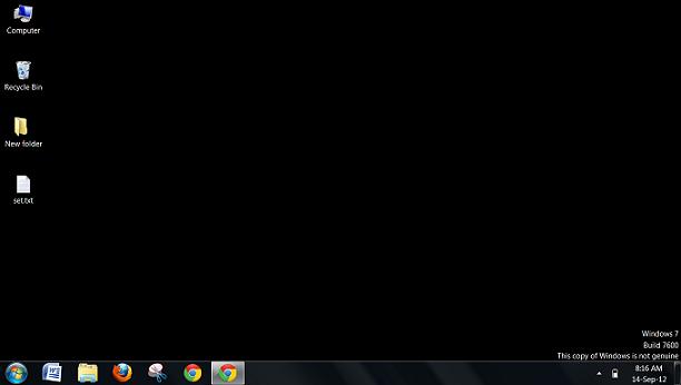 hitam windows 7 bajakan