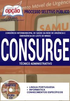 Apostila CONSURGE MG 2016 - Técnico em Enfermagem