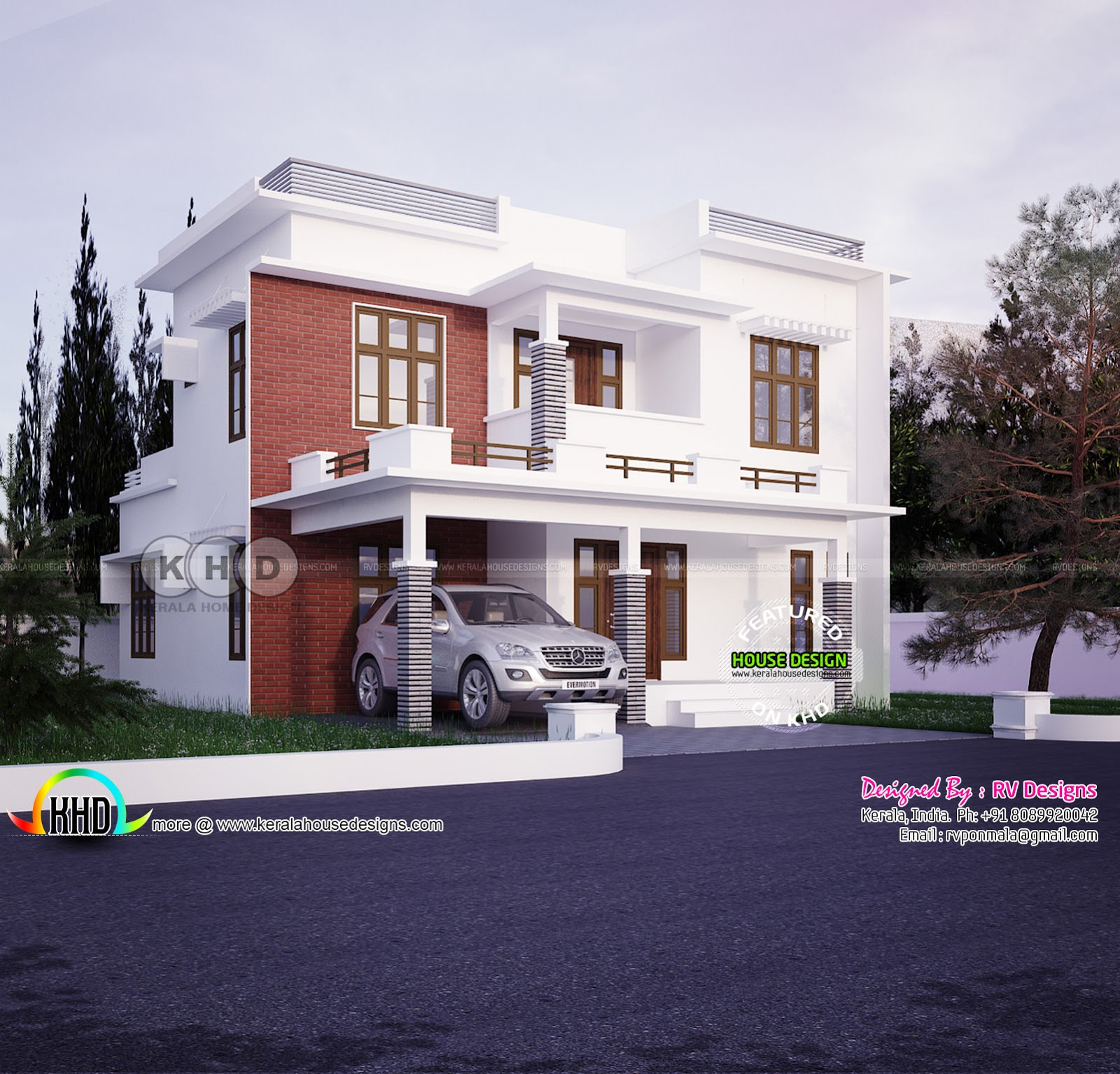 4 bedroom modern style beautiful home plan kerala home 1873 sq ft 3 bedroom kerala style villa design home pleasant