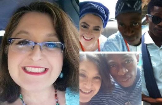 American woman who cried over young Nigerian husband gets warned by the her husband REAL wife