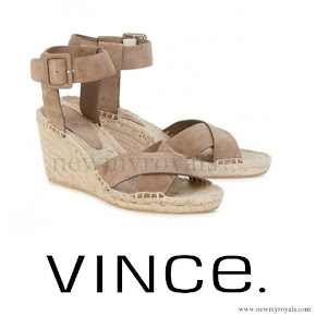 Princess Madeleine wore Vince Stefania fawn suede wedge sandals