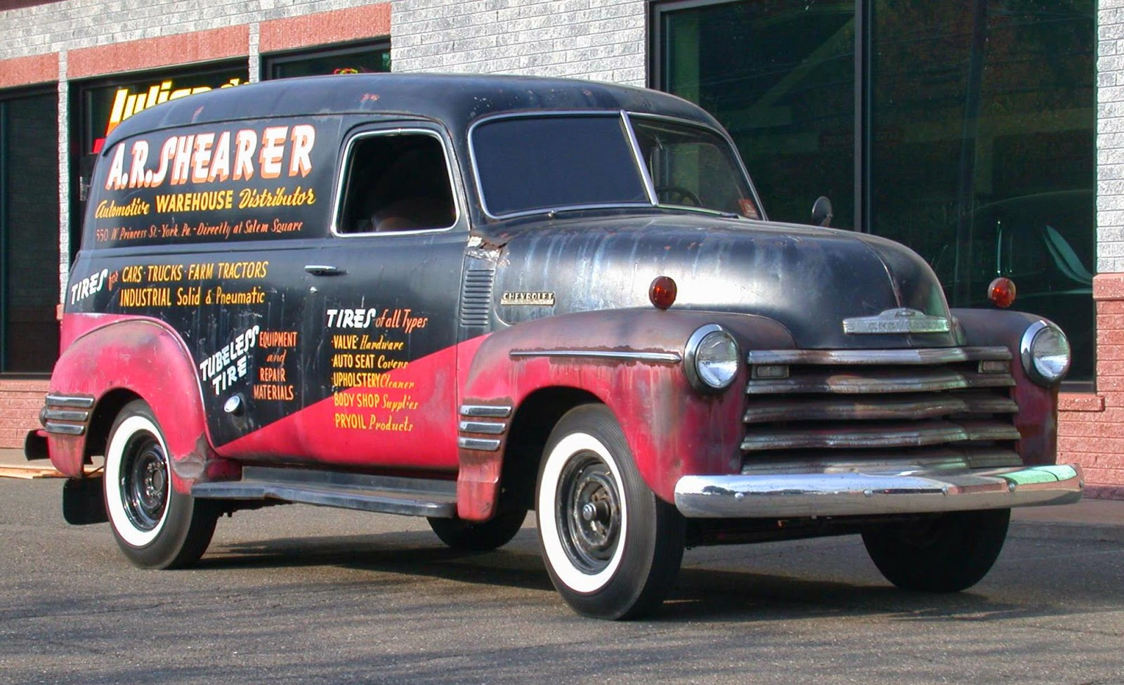 Truck 1949 chevy panel truck : Nostalgia on Wheels: A.R. Shearer Automotive Distributor Chevy ...