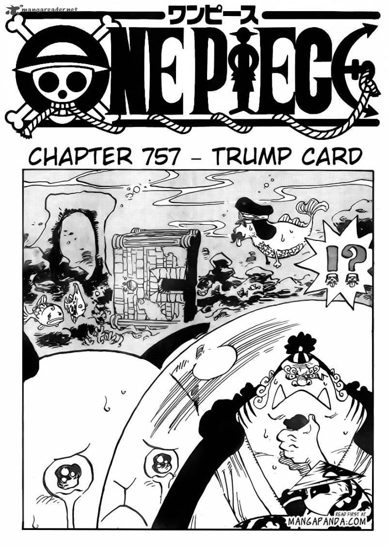 One Piece Ch 757: Trump Card