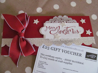 Gift voucher for craft supplies Stampin Up