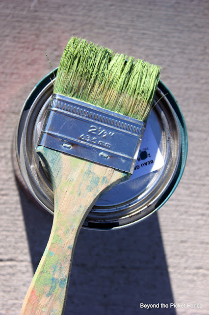 use 2 or 3 paint colors to create a weathered finish