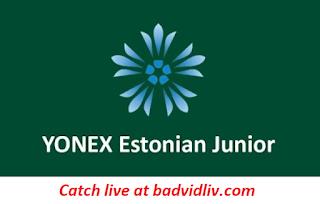 Estonian Junior 2018 live streaming