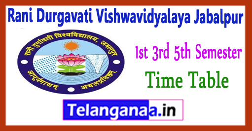 Rdvv rani durgavati vishwavidyalaya jabalpur 1st 3rd 5th for Rdvv 5th sem time table