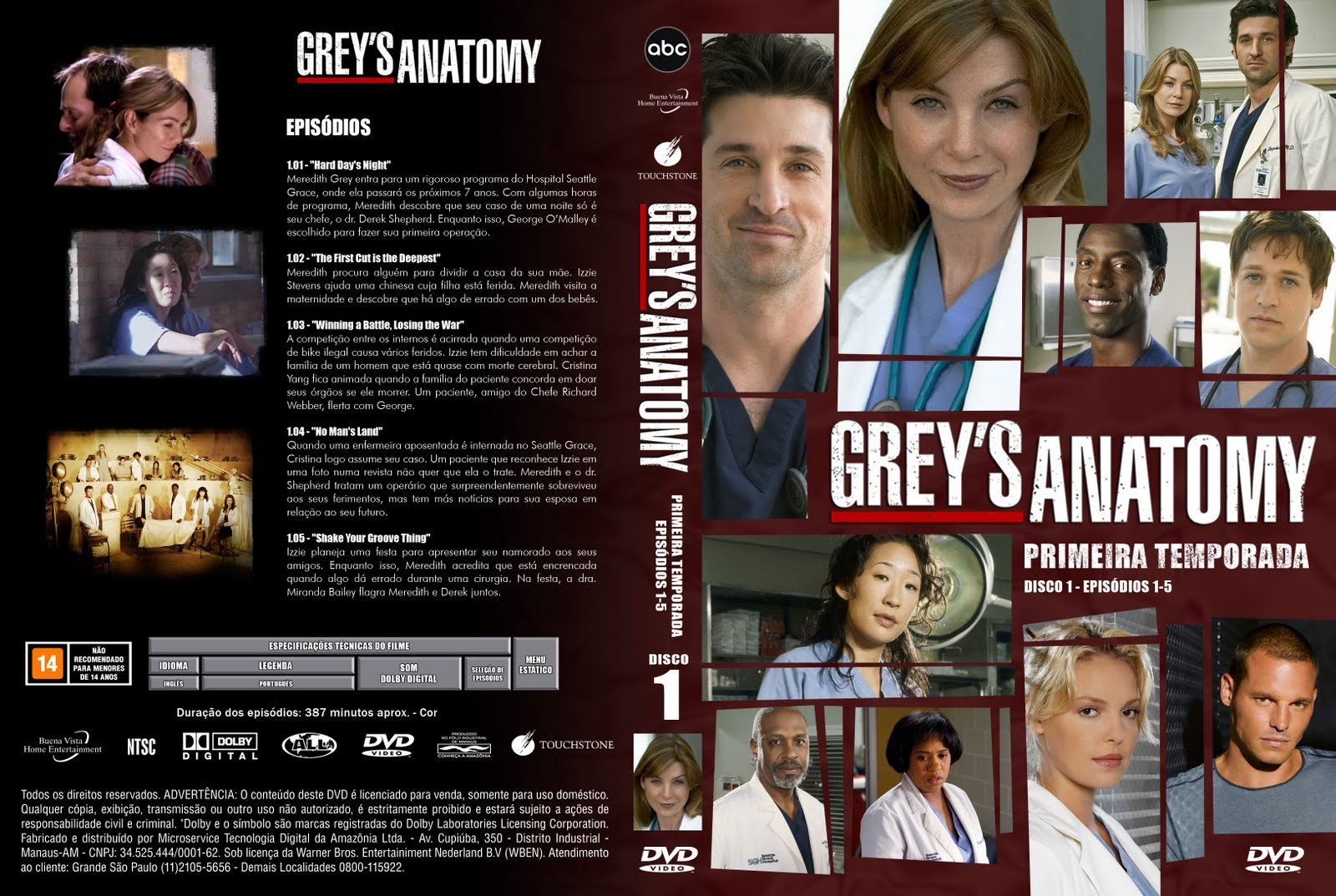 Downloads Diversos Greys Anatomy 1 Temporada Completa 720p
