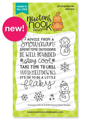 Snowman Advice Stamp Set by Newton's Nook Designs #newtonsnook