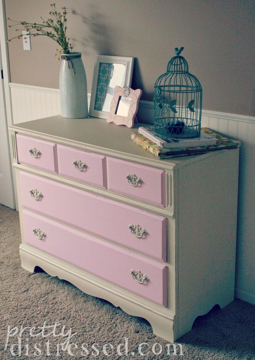 Pink Dressers For Girls Bedroom Set: Pretty Distressed: Girly Girl Dresser Reveal