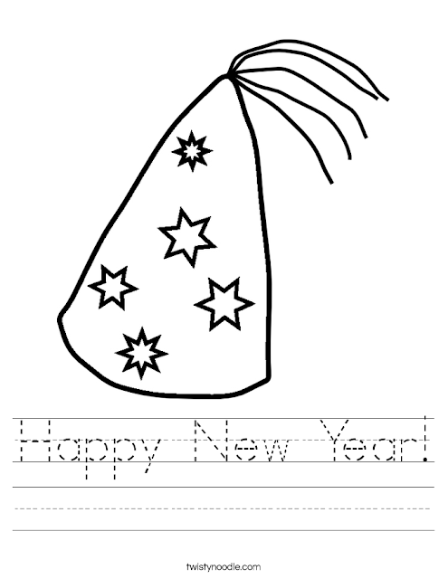 Happy New Year 2017 Coloring Pages Download